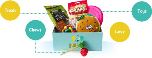 What's in the box | PupPost | Toys and Treat Subscription Box | Buy Online